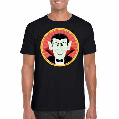 Carnavalskleding halloween vampier/dracula t shirt zwart heren arnhem