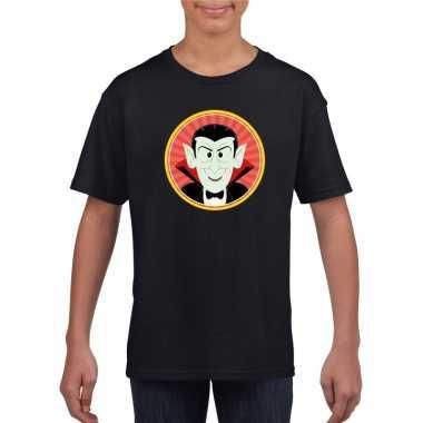 Carnavalskleding halloween vampier/dracula t shirt zwart kinderen arn