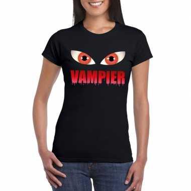 Carnavalskleding halloween vampier ogen t shirt zwart dames arnhem