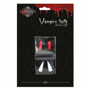 Carnavalskleding halloween vampiertanden halloween bloedcapsules arnh