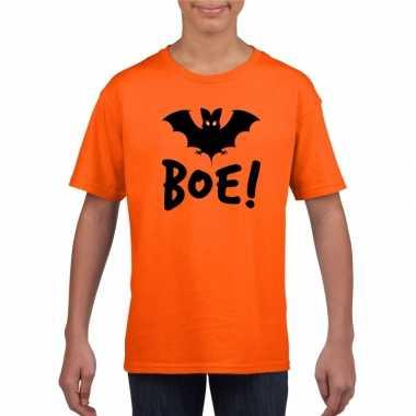 Carnavalskleding halloween vleermuis t shirt oranje kinderen arnhem