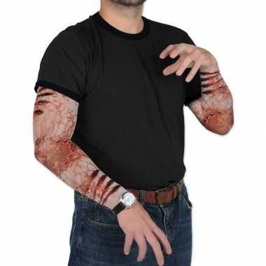 Carnavalskleding halloween zombie halloween verkleedaccessoire mouwen