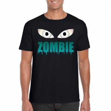 Carnavalskleding halloween zombie ogen t shirt zwart heren arnhem