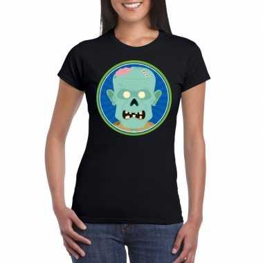 Carnavalskleding halloween zombie t shirt zwart dames arnhem