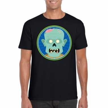 Carnavalskleding halloween zombie t shirt zwart heren arnhem