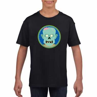 Carnavalskleding halloween zombie t shirt zwart kinderen arnhem