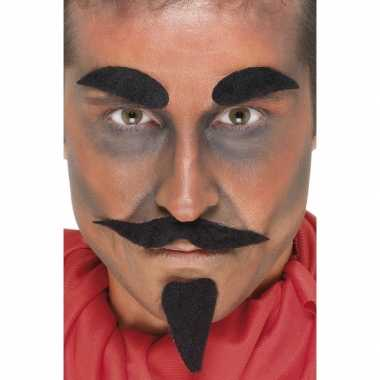Carnavalskleding halloween zwarte duivel accessoire set arnhem