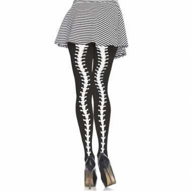 Carnavalskleding  Halloween Zwarte panty ruggengraat print Arnhem