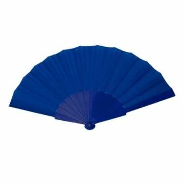 Carnavalskleding handwaaier donkerblauw arnhem