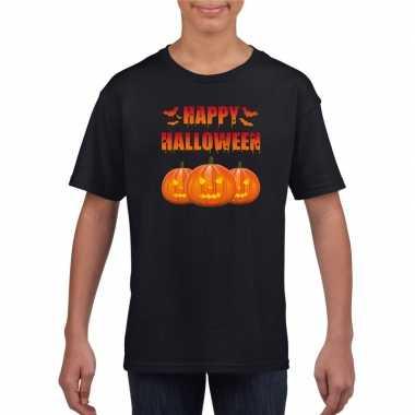 Carnavalskleding happy halloween t shirt zwart kinderen arnhem