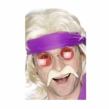 Carnavalskleding hippie accessoires verkleedset snor bril arnhem