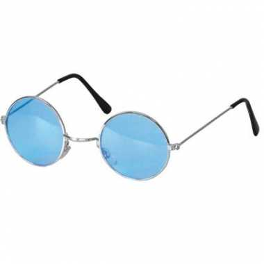 Carnavalskleding hippie / flower power verkleed bril blauw arnhem