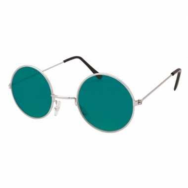 Carnavalskleding hippie / flower power verkleed bril groen arnhem