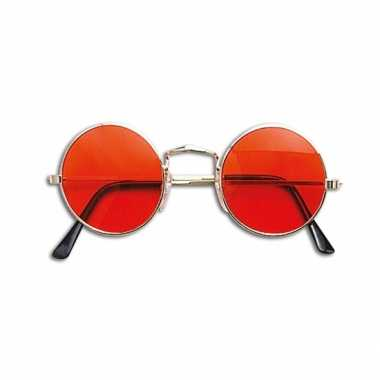 Carnavalskleding hippie / flower power verkleed bril oranje arnhem