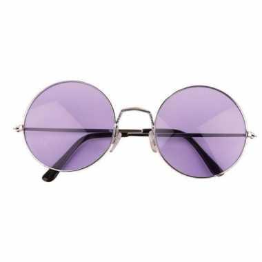 Carnavalskleding hippie / flower power xl verkleed bril paars arnhem