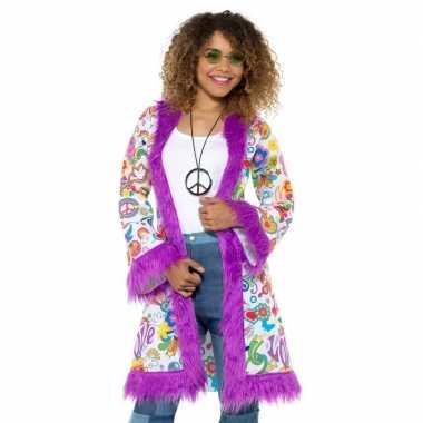 Carnavalskleding hippie groovy jas dames arnhem