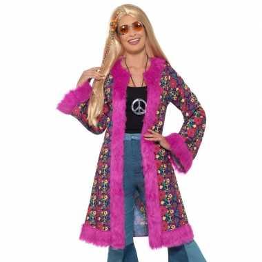 Carnavalskleding hippie peace jas dames arnhem