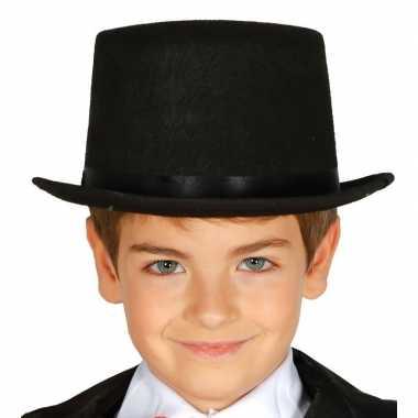 Carnavalskleding hoge hoed zwart kinderen arnhem