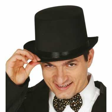 Carnavalskleding hoge hoed zwart volwassenen arnhem