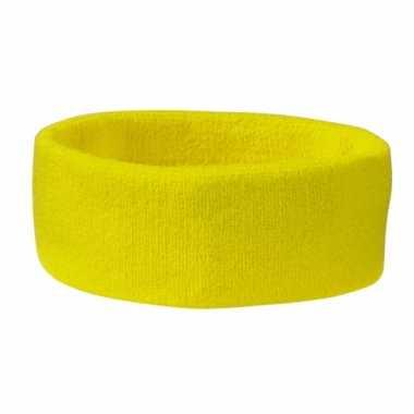 Carnavalskleding hoofd zweetband geel arnhem