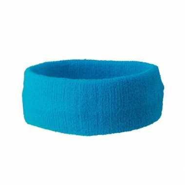 Carnavalskleding hoofd zweetband turquoise arnhem