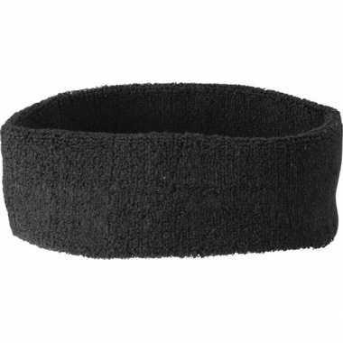 Carnavalskleding hoofd zweetband zwart arnhem