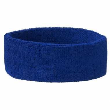 Carnavalskleding hoofd zweetbandje blauw arnhem