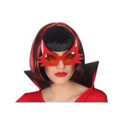 Carnavalskleding horror duivel verkleed bril rood volwassenen arnhem