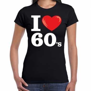 Carnavalskleding i love s / sixties t shirt zwart dames arnhem
