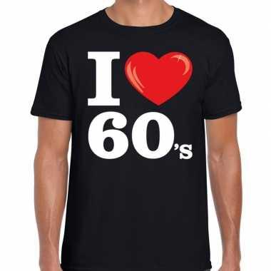Carnavalskleding i love s / sixties t shirt zwart heren arnhem