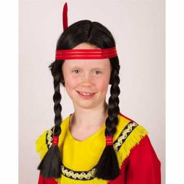 Carnavalskleding indianen kinderpruik vlechten arnhem 10065552