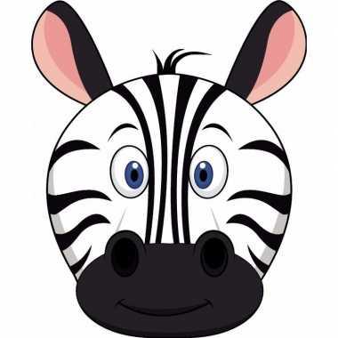 Carnavalskleding kartonnen zebra masker kinderen arnhem