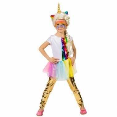 Carnavalskleding kinder verkleed legging goud arnhem