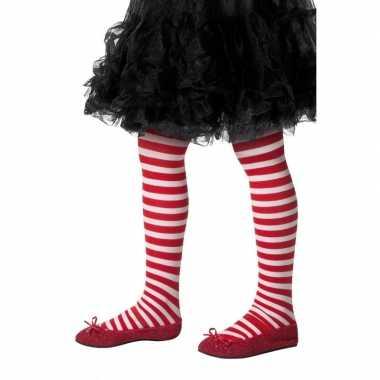 Carnavalskleding kinderpanty rood wit gestreept arnhem