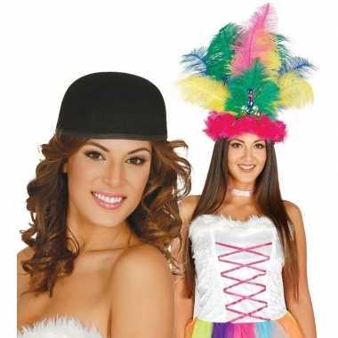 Carnavalskleding knutsel materiaal basic zwart hoedje volwassenen arnhem