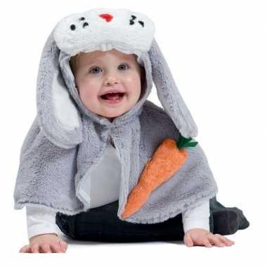 Carnavalskleding konijn/haas verkleed cape baby/peuters arnhem