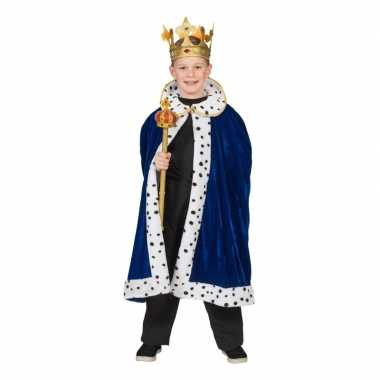 Carnavalskleding koning verkleed cape blauw jongens arnhem