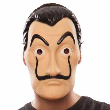Carnavalskleding la casa papel overvaller masker salvador dali arnhem