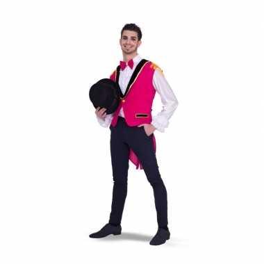 Carnavalskleding lange roze gilet heren arnhem