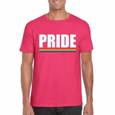 Carnavalskleding lgbt shirt roze pride heren arnhem