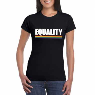 Carnavalskleding lgbt shirt zwart equality dames arnhem