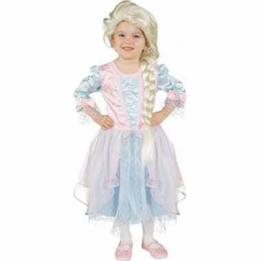 Carnavalskleding lichtblauw roze prinsessenjurk arnhem