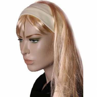 Carnavalskleding lichtgele stretch haarband arnhem