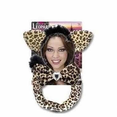 Carnavalskleding luipaard verkleed setje arnhem