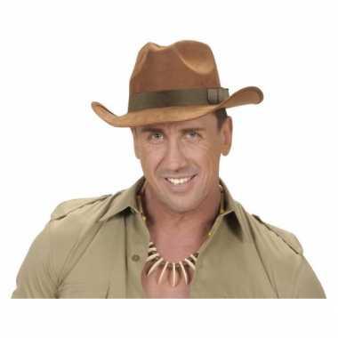 Carnavalskleding  Luxe cowboy hoed bruin Arnhem