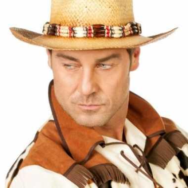 Carnavalskleding  Luxe cowboy hoed kralen Arnhem