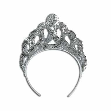 Carnavalskleding luxe zilveren tiara arnhem