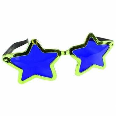 Carnavalskleding mega groene sterren verkleed bril volwassenen arnhem