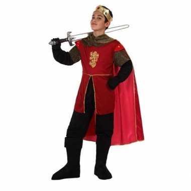 Carnavalskleding middeleeuwse koning/ridder henry verkleedset jongens