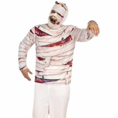Carnavalskleding mummie verkleed shirt heren arnhem